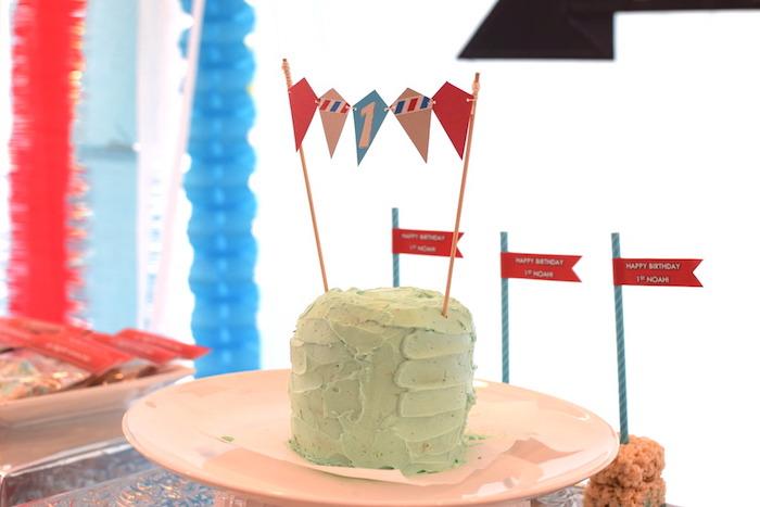 Smash cake from a Airplane Birthday Party via Kara's Party Ideas KarasPartyIdeas.com (18)