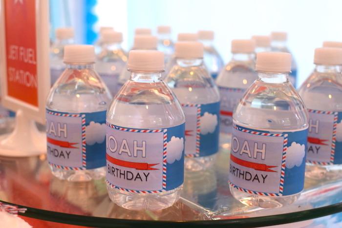 Water bottles from a Airplane Birthday Party via Kara's Party Ideas KarasPartyIdeas.com (15)