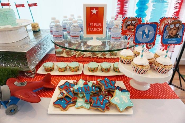 Jet Fuel Dessert Table from a Airplane Birthday Party via Kara's Party Ideas KarasPartyIdeas.com (11)