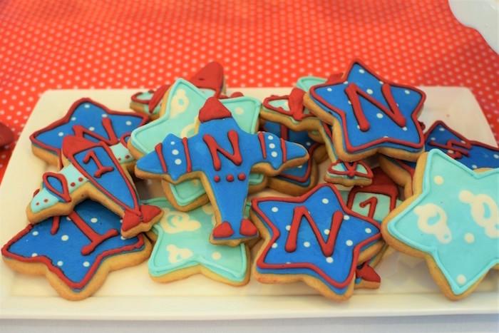 Cookies from a Airplane Birthday Party via Kara's Party Ideas KarasPartyIdeas.com (38)
