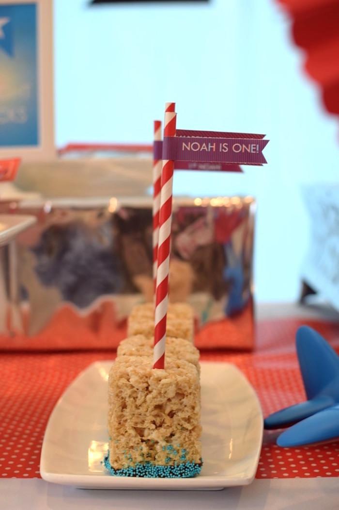 Rice Krispie Treats from a Airplane Birthday Party via Kara's Party Ideas KarasPartyIdeas.com (35)