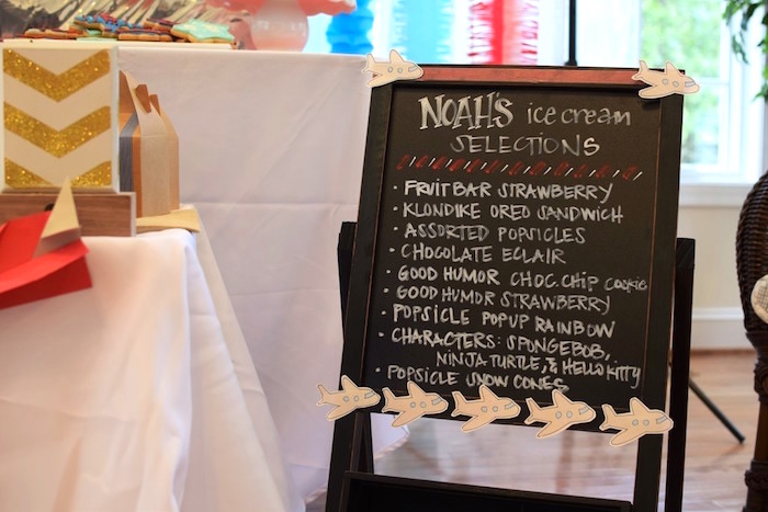Chalkboard Easel Menu from a Airplane Birthday Party via Kara's Party Ideas KarasPartyIdeas.com (33)