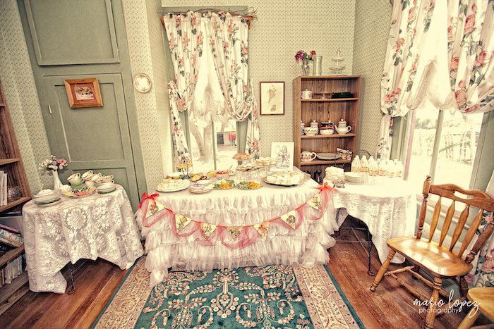 Vintage party tables from an Alice in Wonderland Birthday Party via Kara's Party Ideas | KarasPartyIdeas.com (37)