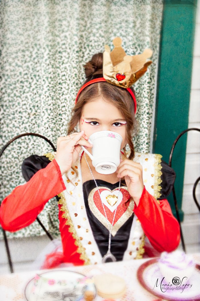 Queen of Hearts from an Alice in Wonderland Birthday Party via Kara's Party Ideas | KarasPartyIdeas.com (27)