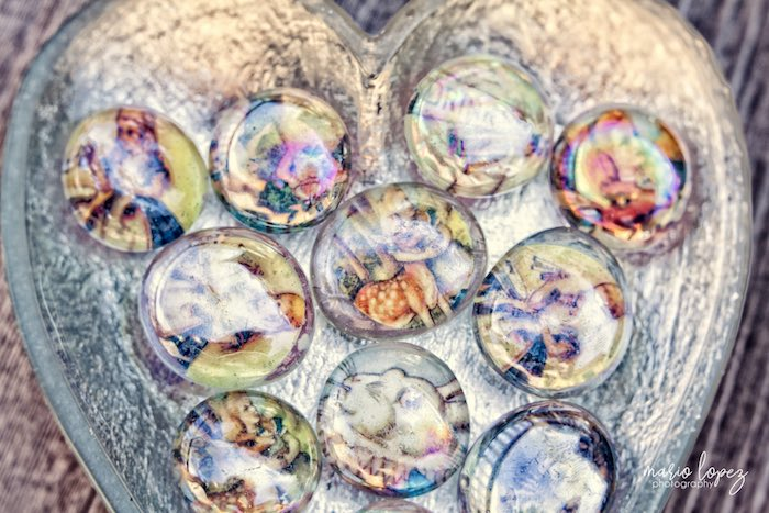 Decoupage magnets from an Alice in Wonderland Birthday Party via Kara's Party Ideas | KarasPartyIdeas.com (17)