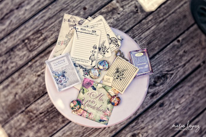 Favors from an Alice in Wonderland Birthday Party via Kara's Party Ideas | KarasPartyIdeas.com (16)