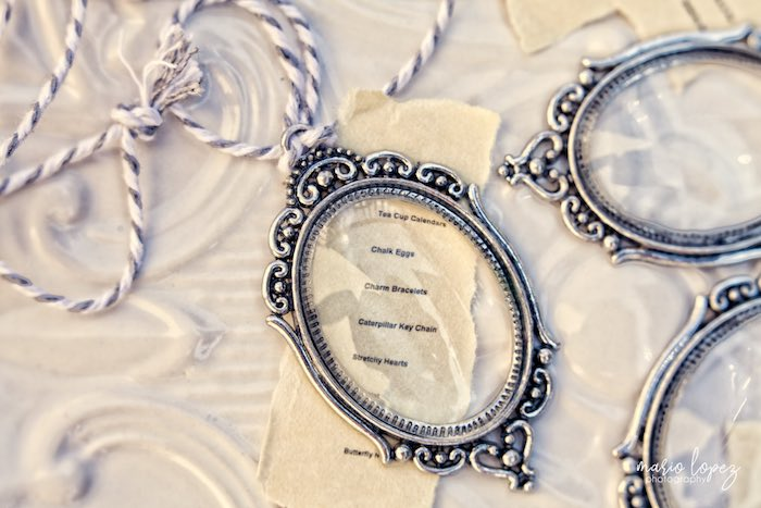 Looking glass necklace from an Alice in Wonderland Birthday Party via Kara's Party Ideas | KarasPartyIdeas.com (12)