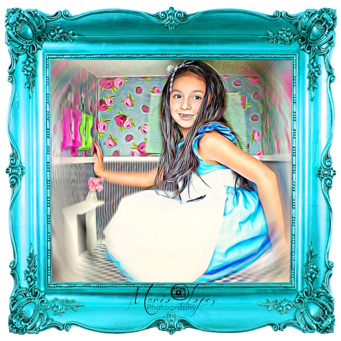 Photo booth from an Alice in Wonderland Birthday Party via Kara's Party Ideas | KarasPartyIdeas.com (4)