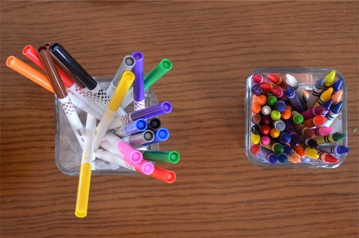 Markers & crayons from a Back to School Party with Free PRINTABLES via Kara's Party Ideas | KarasPartyIdeas.com (7)