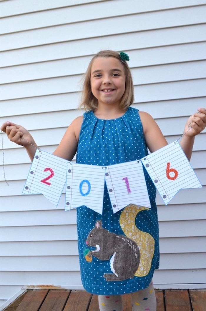 Notebook paper banner from a Back to School Party with Free PRINTABLES via Kara's Party Ideas | KarasPartyIdeas.com (4)
