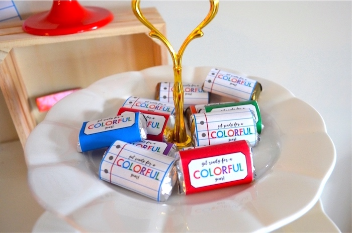 Chocolates from a Back to School Party with Free PRINTABLES via Kara's Party Ideas | KarasPartyIdeas.com (17)
