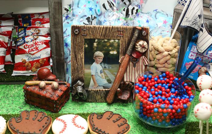 Snacks + sweets & decor from a Baseball + Yankees Inspired Birthday Party via Kara's Party Ideas | KarasPartyIdeas.com (23)
