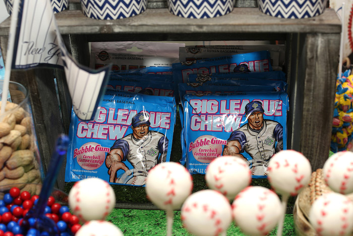 Big League Bubble Gum Chew from a Baseball + Yankees Inspired Birthday Party via Kara's Party Ideas | KarasPartyIdeas.com (19)
