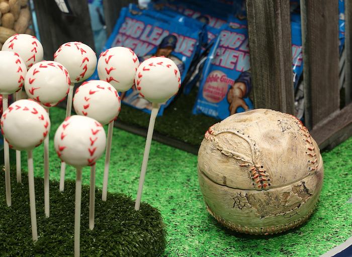 Baseball cake pops from a Baseball + Yankees Inspired Birthday Party via Kara's Party Ideas | KarasPartyIdeas.com (17)