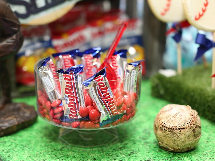 Baby Ruth candy bars from a Baseball + Yankees Inspired Birthday Party via Kara's Party Ideas | KarasPartyIdeas.com (33)