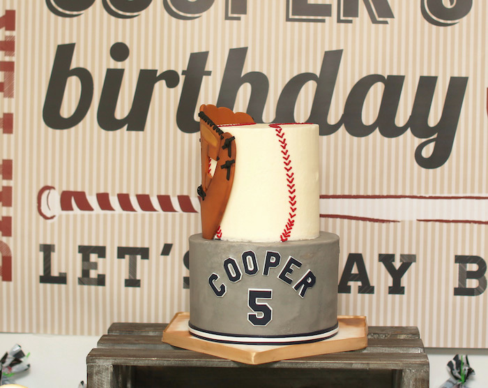 Cake from a Baseball + Yankees Inspired Birthday Party via Kara's Party Ideas | KarasPartyIdeas.com (11)