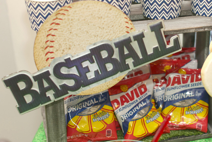 Sunflower seed snacks from a Baseball + Yankees Inspired Birthday Party via Kara's Party Ideas | KarasPartyIdeas.com (31)