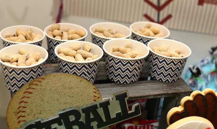 Peanut cups from a Baseball + Yankees Inspired Birthday Party via Kara's Party Ideas | KarasPartyIdeas.com (30)
