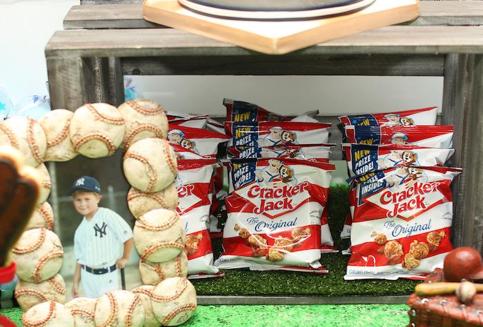 Cracker Jack snacks from a Baseball + Yankees Inspired Birthday Party via Kara's Party Ideas | KarasPartyIdeas.com (28)