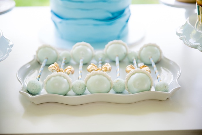 Kara\'s Party Ideas Blue & Gold Baby Shower | Kara\'s Party Ideas