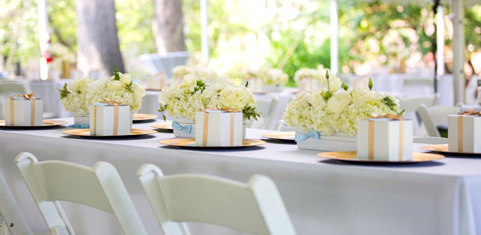 Blue & Gold Baby Shower via Kara's Party Ideas | KarasPartyIdeas.com (2)