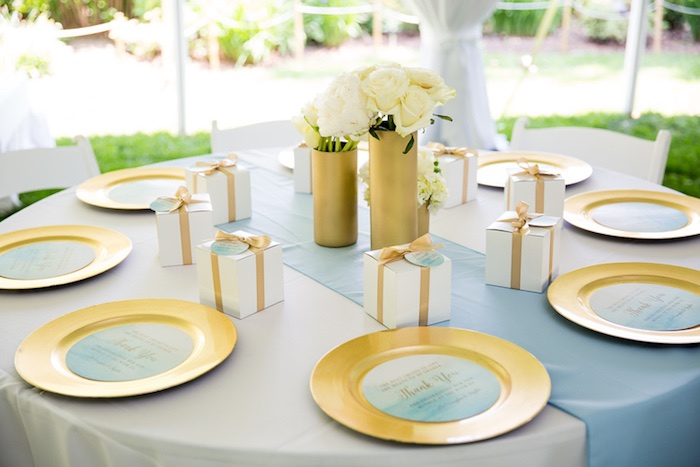 blue and gold party