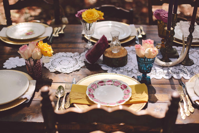 Place setting from a Boho Baby Pow Wow Party via Kara's Party Ideas | KarasPartyIdeas.com (23)