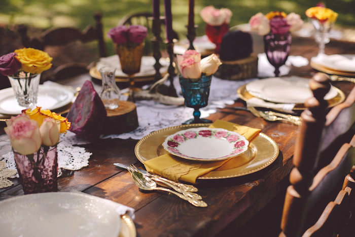 Place setting from a Boho Baby Pow Wow Party via Kara's Party Ideas | KarasPartyIdeas.com (22)