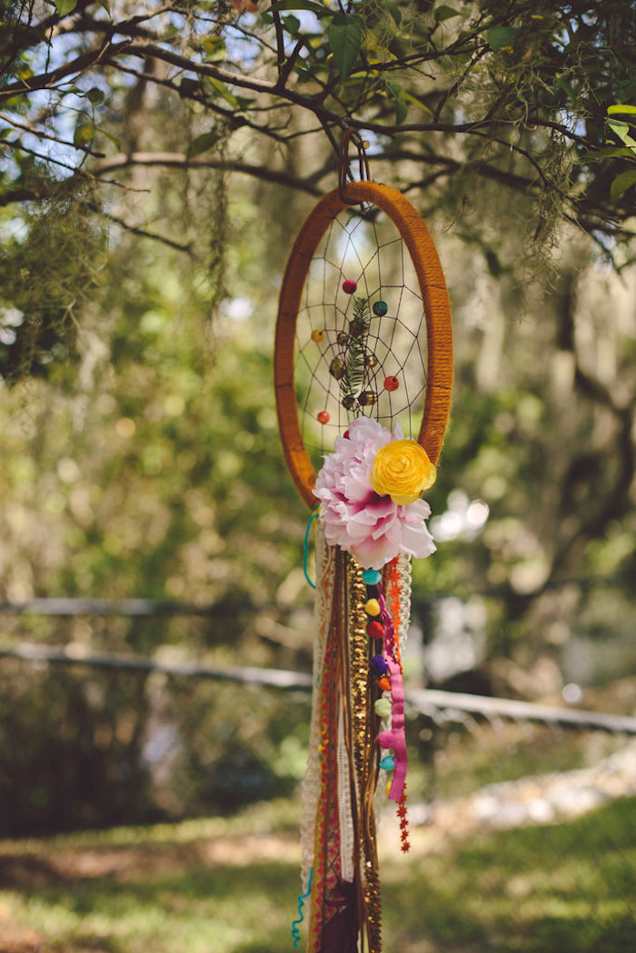 Dreamcatcher from a Boho Baby Pow Wow Party via Kara's Party Ideas | KarasPartyIdeas.com (18)