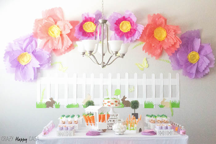 Bunny Birthday Party at Kara's Party Ideas | KarasPartyIdeas.com (4)
