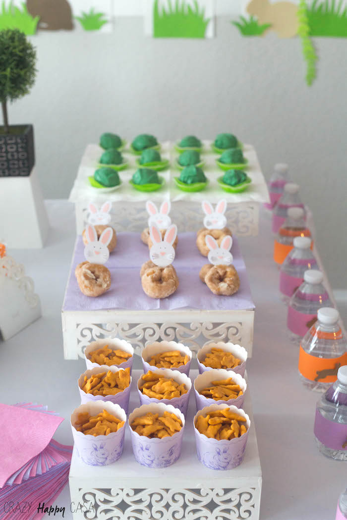 Snacks & sweets from a Bunny Birthday Party at Kara's Party Ideas | KarasPartyIdeas.com (3)