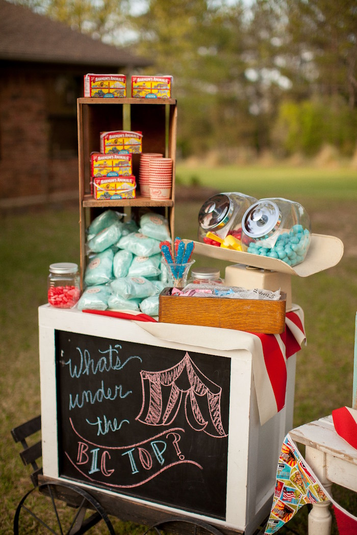 Snacks and sweets from a Carnival Themed Gender Reveal Party via Kara's Party Ideas | KarasPartyIdeas.com (31)