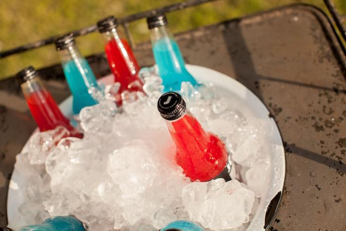 Jones soda drinks from a Carnival Themed Gender Reveal Party via Kara's Party Ideas | KarasPartyIdeas.com (28)