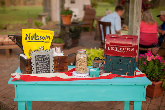 Nut bar from a Carnival Themed Gender Reveal Party via Kara's Party Ideas | KarasPartyIdeas.com (19)