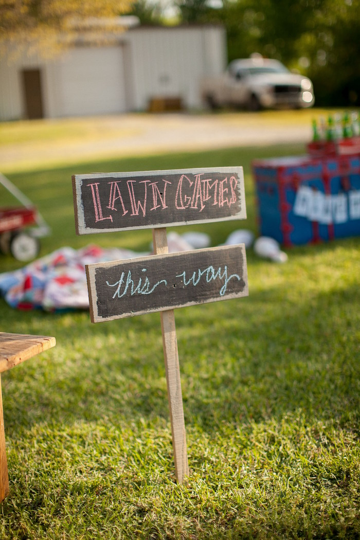 Chalkboard sign from a Carnival Themed Gender Reveal Party via Kara's Party Ideas | KarasPartyIdeas.com (16)