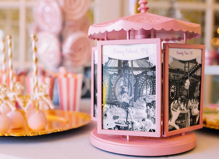 Carousel photo frame from a Carousel of Dreams Birthday Party via Kara's Party Ideas | KarasPartyIdeas.com (15)
