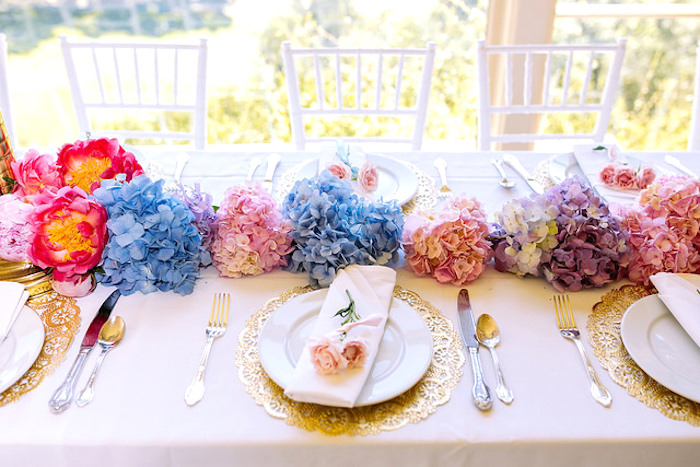 Dining tablescape from a Carousel of Dreams Birthday Party via Kara's Party Ideas | KarasPartyIdeas.com (11)