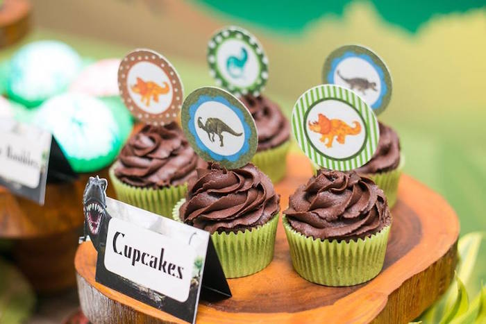 Cupcakes From A Dinosaur Birthday Party Via Karas Ideas