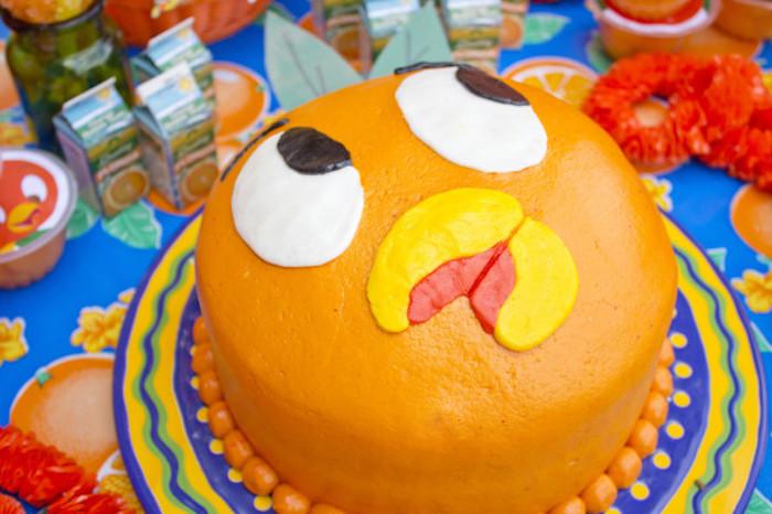 Orange Bird Cake from a Disney's Orange Bird Birthday Pool Party via Kara's Party Ideas KarasPartyIdeas.com (5)