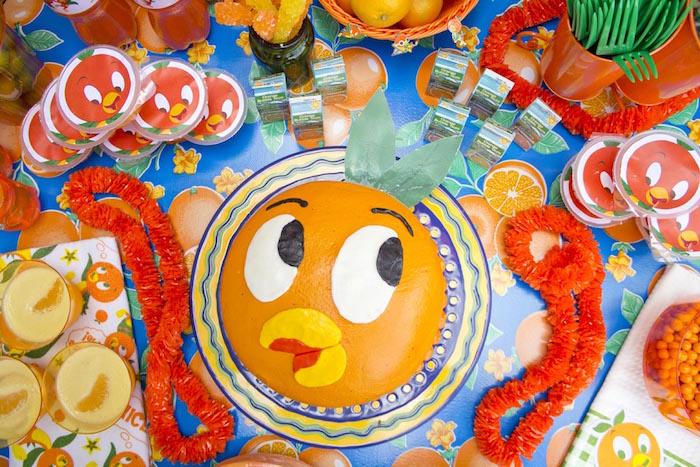 Party tabletop from a Disney's Orange Bird Birthday Pool Party via Kara's Party Ideas KarasPartyIdeas.com (12)