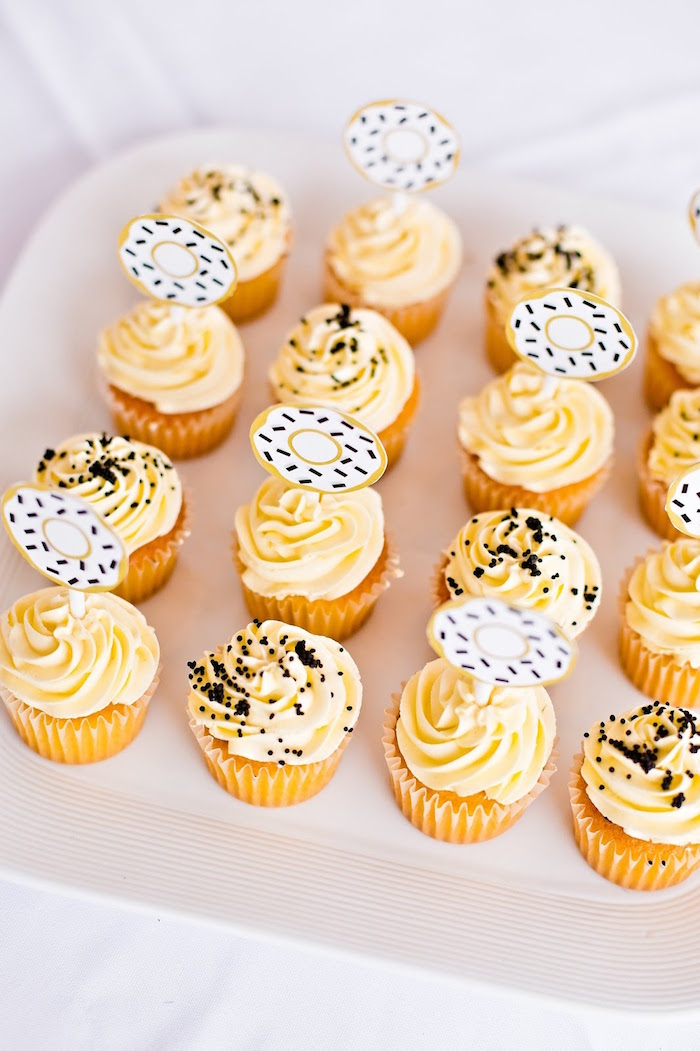 Cupcakes from a Donut Birthday Bash on Kara's Party Ideas | KarasPartyIdeas.com (21)