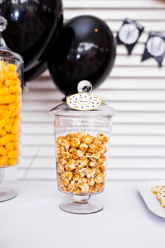 Popcorn from a Donut Birthday Bash on Kara's Party Ideas | KarasPartyIdeas.com (13)