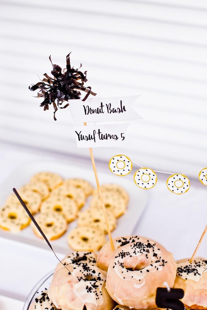 Cake topper from a Donut Birthday Bash on Kara's Party Ideas | KarasPartyIdeas.com (27)