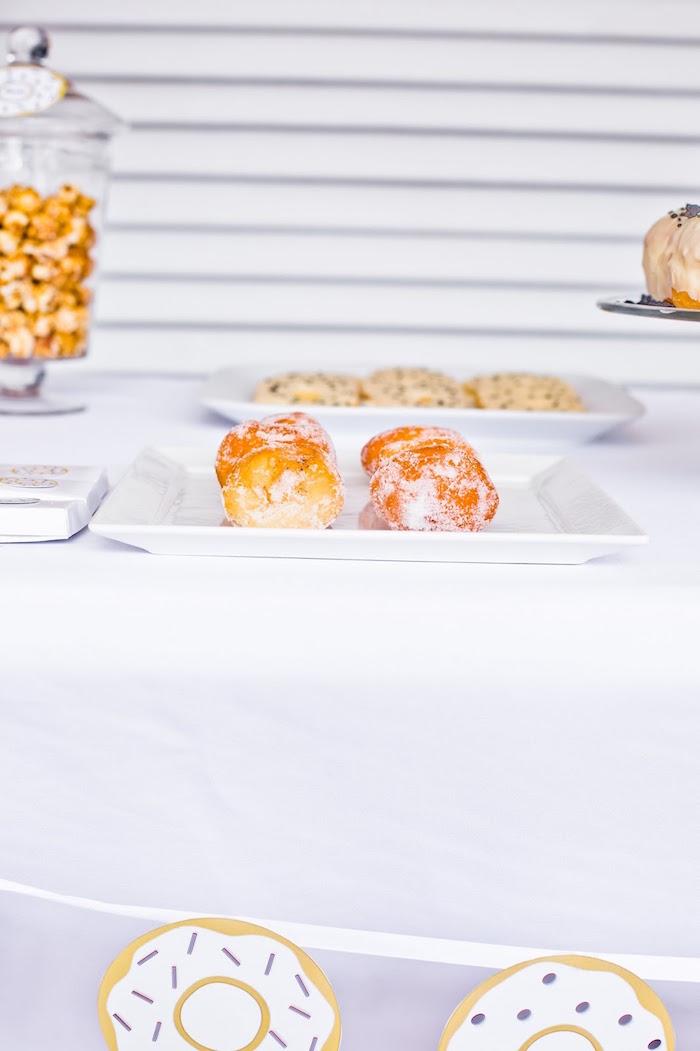 Donut holes from a Donut Birthday Bash on Kara's Party Ideas | KarasPartyIdeas.com (26)