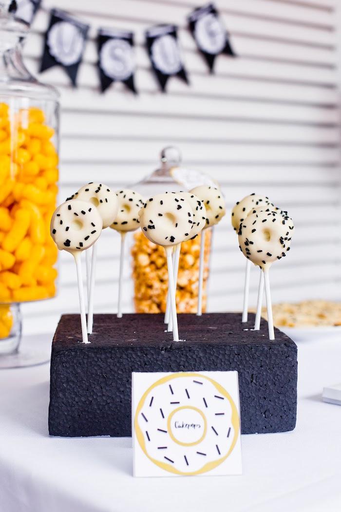 Donut cake pops from a Donut Birthday Bash on Kara's Party Ideas | KarasPartyIdeas.com (25)