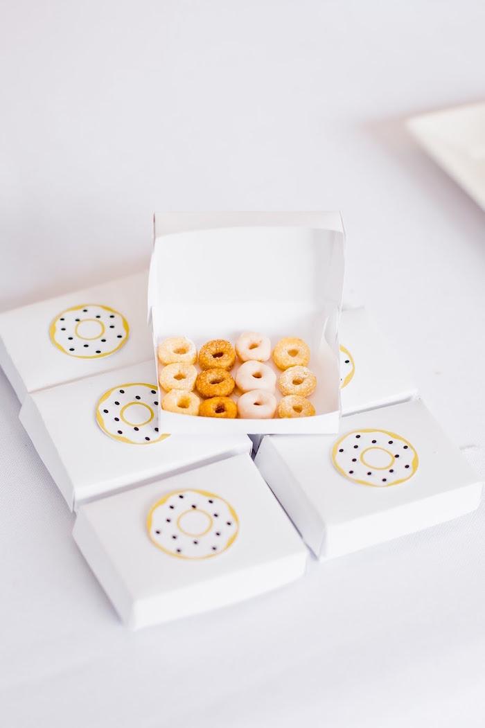 Mini donut snacks from a Donut Birthday Bash on Kara's Party Ideas | KarasPartyIdeas.com (24)
