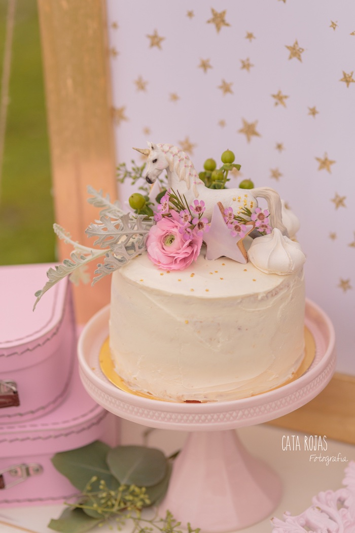 Cake from a Dreamy Unicorn Birthday Party on Kara's Party Ideas | KarasPartyIdeas.com (25)