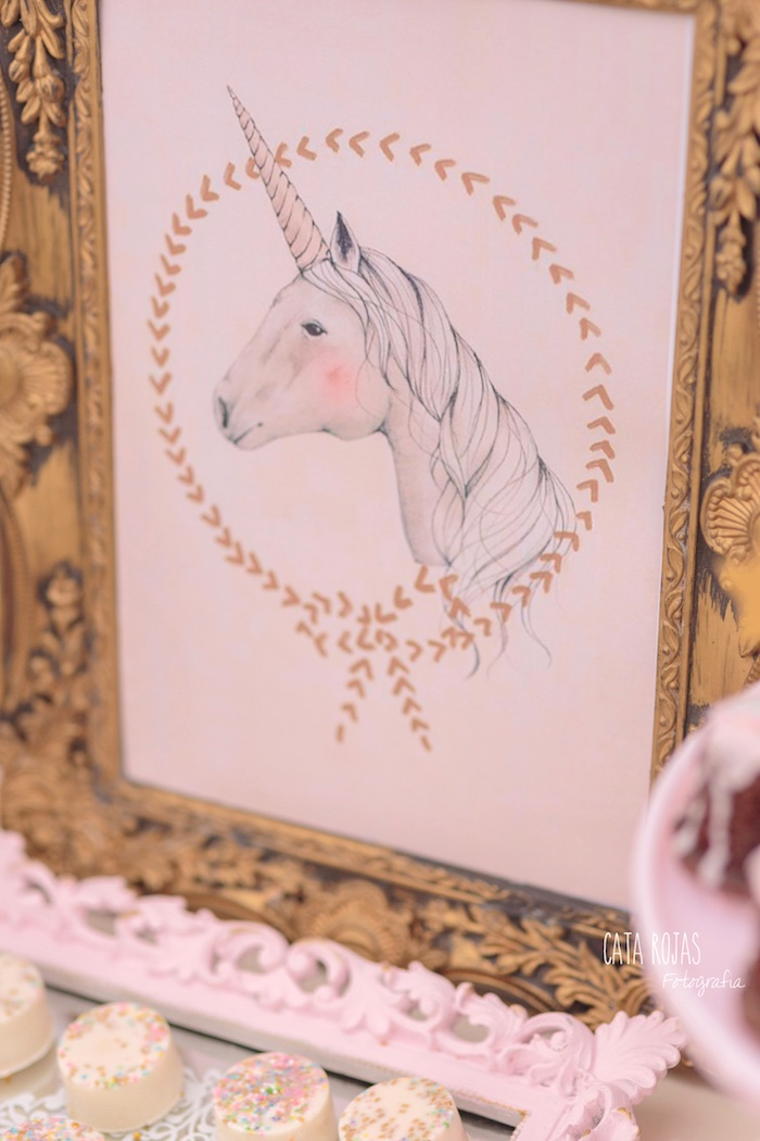 Unicorn sign from a Dreamy Unicorn Birthday Party on Kara's Party Ideas | KarasPartyIdeas.com (24)