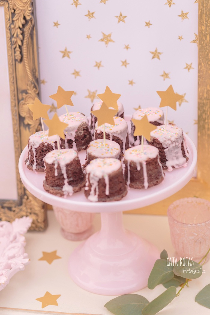 Mini cakes from a Dreamy Unicorn Birthday Party on Kara's Party Ideas | KarasPartyIdeas.com (34)