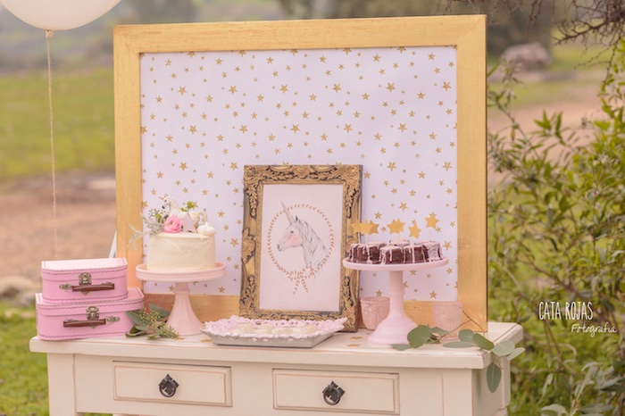 Dessert table from a Dreamy Unicorn Birthday Party on Kara's Party Ideas | KarasPartyIdeas.com (33)